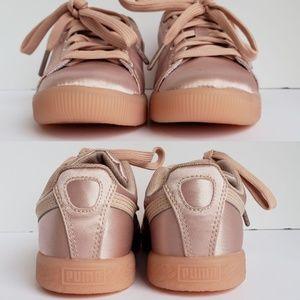 Puma Shoes - 🎀NIB Girl Puma Clyde Satin P Sneaker ec4604cb4